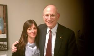 Ambassador Stuart E. Eizenstat with Shar Mansukhani, Heir Hunters International, on Holocaust Remembrance Day.