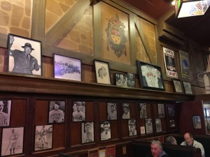 """Paying homage to the San Francisco Giants, """"Lefty"""" O'Doul's is a throw back to an earlier time, as shown in this photo of part of its inner decor."""